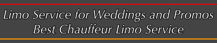 Limousine and limo service for weggings